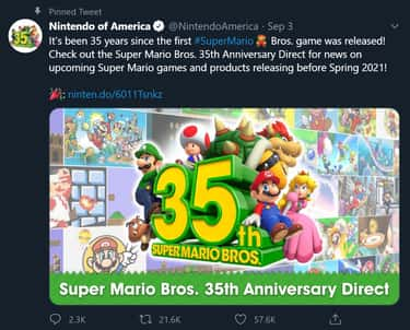 Surprise! Nintendo Dropped A C is listed (or ranked) 1 on the list Nintendo Re-Releases Classic Mario Games For Its Anniversary, And Fans Are Losing Their Minds