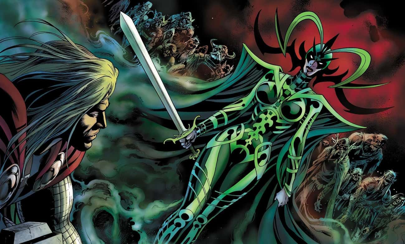 She Wields The Accursed 'Night is listed (or ranked) 4 on the list 14 Things You Didn't Know About Hela From The Comics