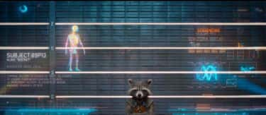 During the prison intake scene is listed (or ranked) 1 on the list 17 Small But Interesting Details From 'Guardians Of The Galaxy'