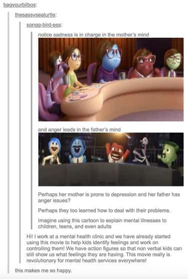 The Mother May Be Prone To Dep is listed (or ranked) 1 on the list 20 'Inside Out' Moments That Prove Just How Much Attention To Detail The Movie Has