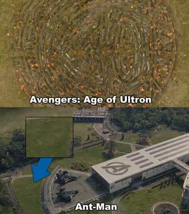 A shot of the symbol Thor left is listed (or ranked) 2 on the list 14 Brilli-Ant Details You Probably Missed In 'Ant-Man'