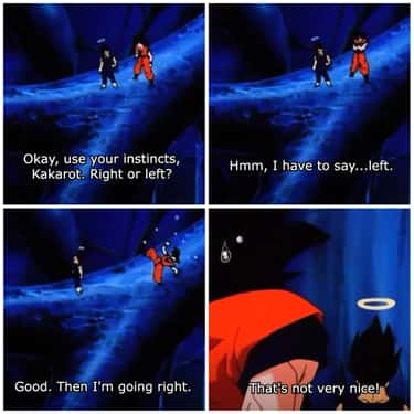 Following Your Instincts is listed (or ranked) 2 on the list 15 Hilarious Goku And Vegeta Moments From DBZ