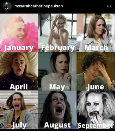 2020 Calendar is listed (or ranked) 2 on the list 20 'American Horror Story' Memes That Reign Supreme
