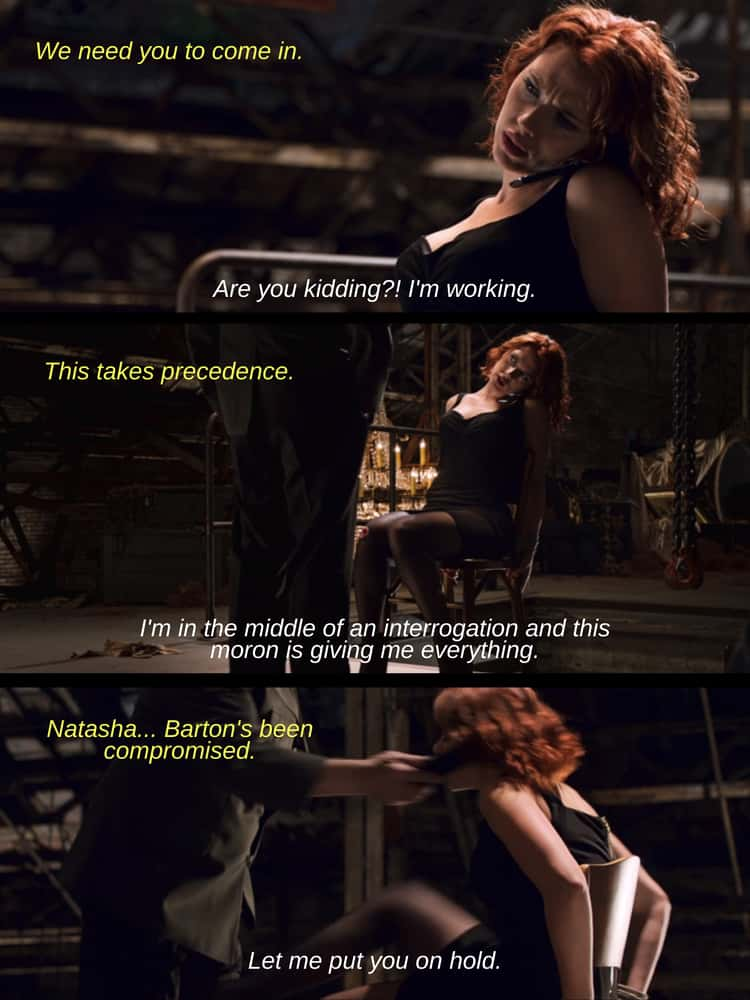 Her Interrogation In 'The Avengers'