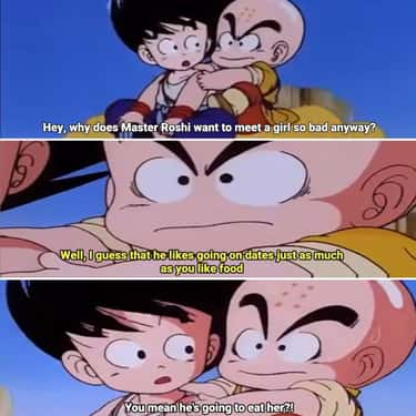I Have No Words is listed (or ranked) 2 on the list 18 Hilarious Moments From The Original Dragon Ball Series