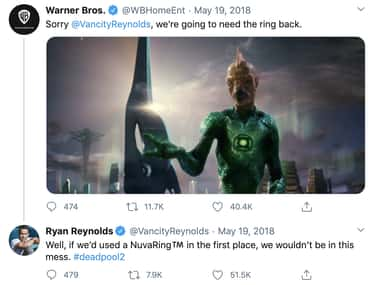He Had A Snappy Comeback Ready is listed (or ranked) 1 on the list Ryan Reynolds Can't Stop Bashing 'Green Lantern'