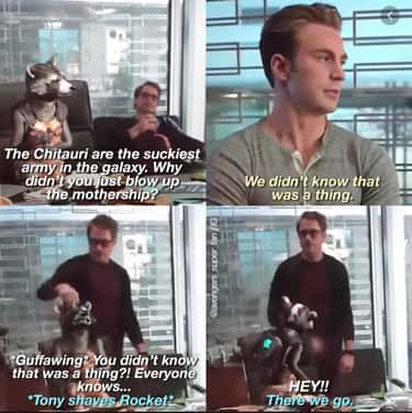 Rocket Mocks The Avengers For  is listed (or ranked) 1 on the list 25 Deleted Scenes From All The Avengers Movies That Shouldn't Have Gotten The Snap