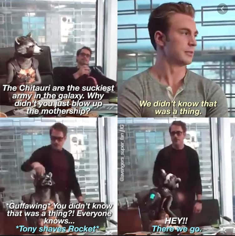 Rocket Mocks The Avengers For Taking So Long To Defeat The Chitauri (Endgame)