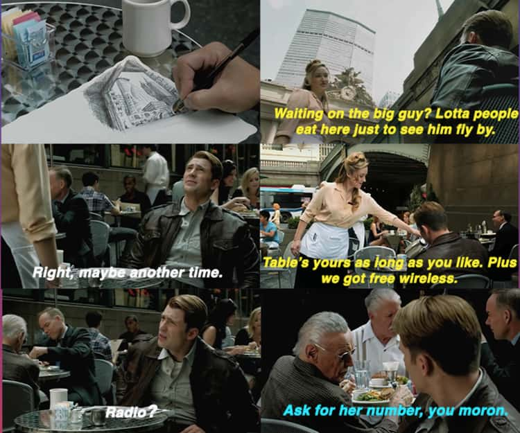 Steve Spends More Time With The Waitress Outside Stark Tower Plus An Extra Cameo From Stan Lee (The Avengers)