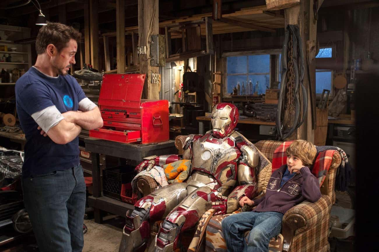Tony Stark Gives An Experimental Weapon To A Child