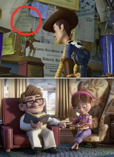 There's A Postcard From Ellie And Carl From 'Up'