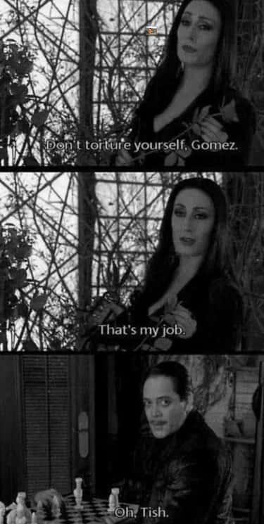 Gomez and morticia relationship