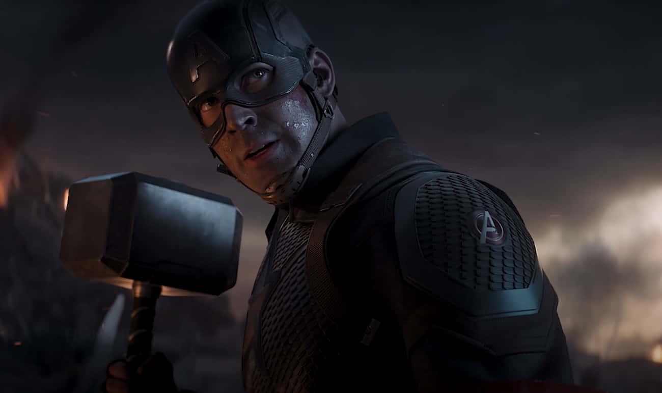 Captain America Lifting Mjolnir