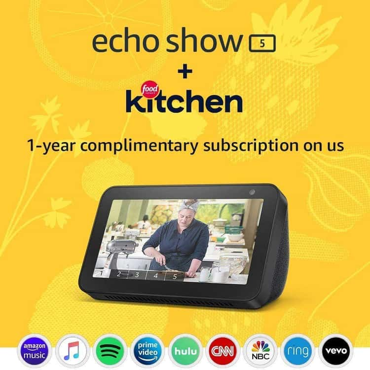 Echo Show With Food Network Subscription