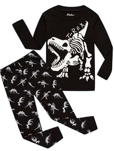 Children Pajamas Glow in Dark Dinosaur