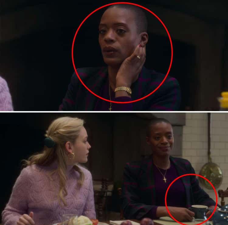 Hannah Isn't Eating Again, And Touches Her Head