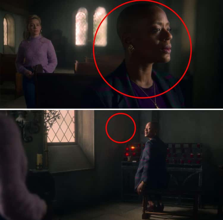 Dani Finds Hannah Just Staring At The Wall... Hannah Is Also Always In The Church - A Room Surrounded By Rock