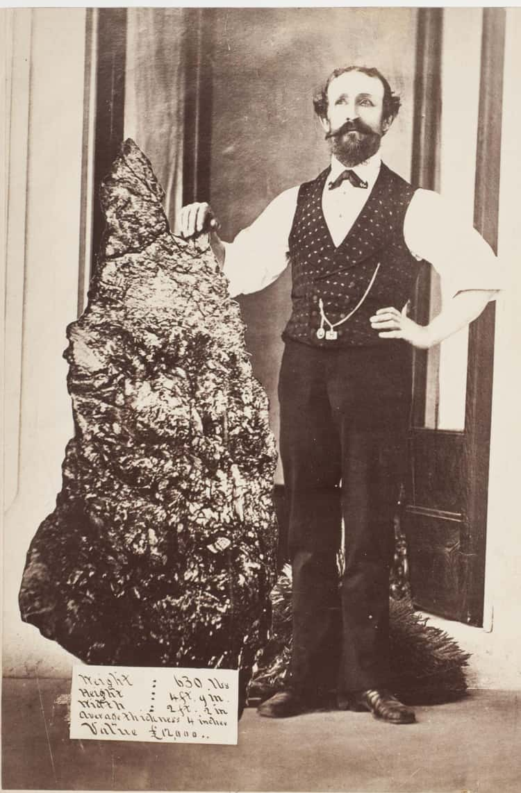 Bernard Otto Holtermann With The World's Largest Gold 'Nugget,' c. 1874 - c. 1876