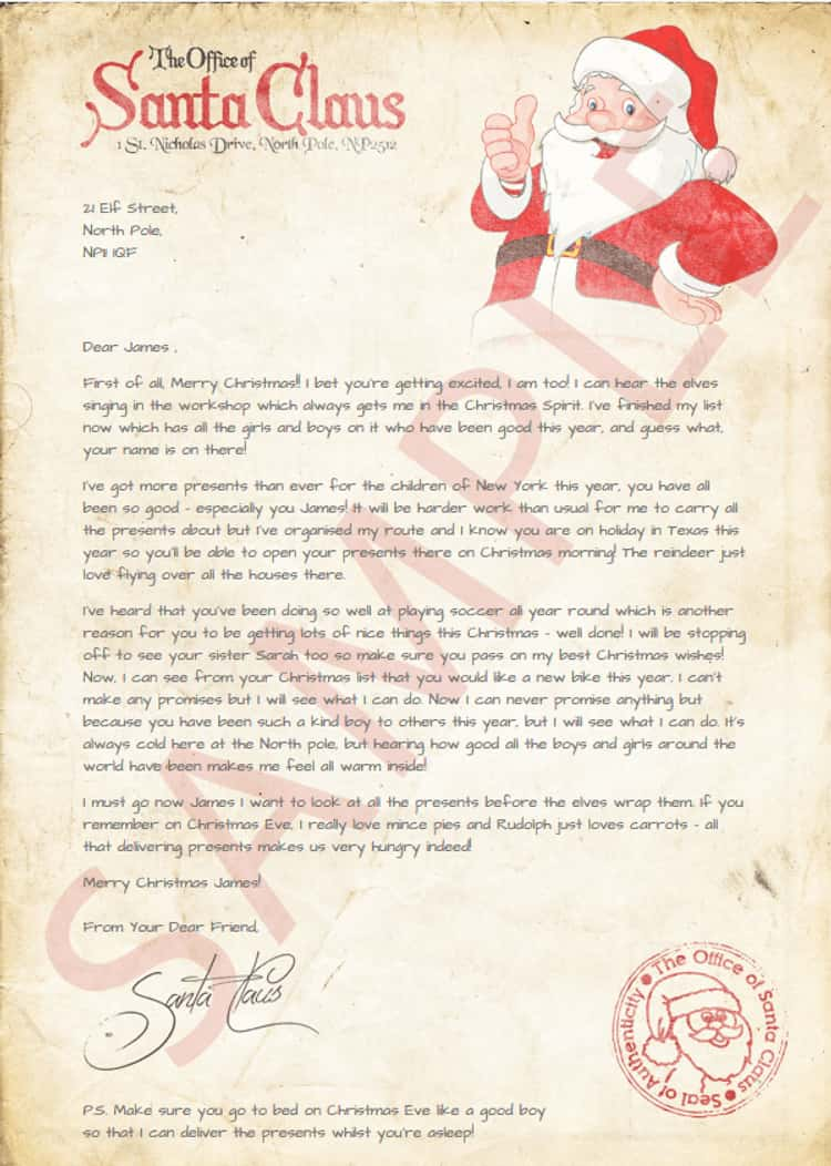 Send A Child A Letter From Santa