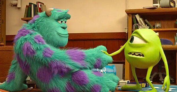 """In """"Mosters, Inc,"""" Mike says he and sully met in the fourth grade, but this essentially cancels out the second film when they meet each other for the first time in college."""