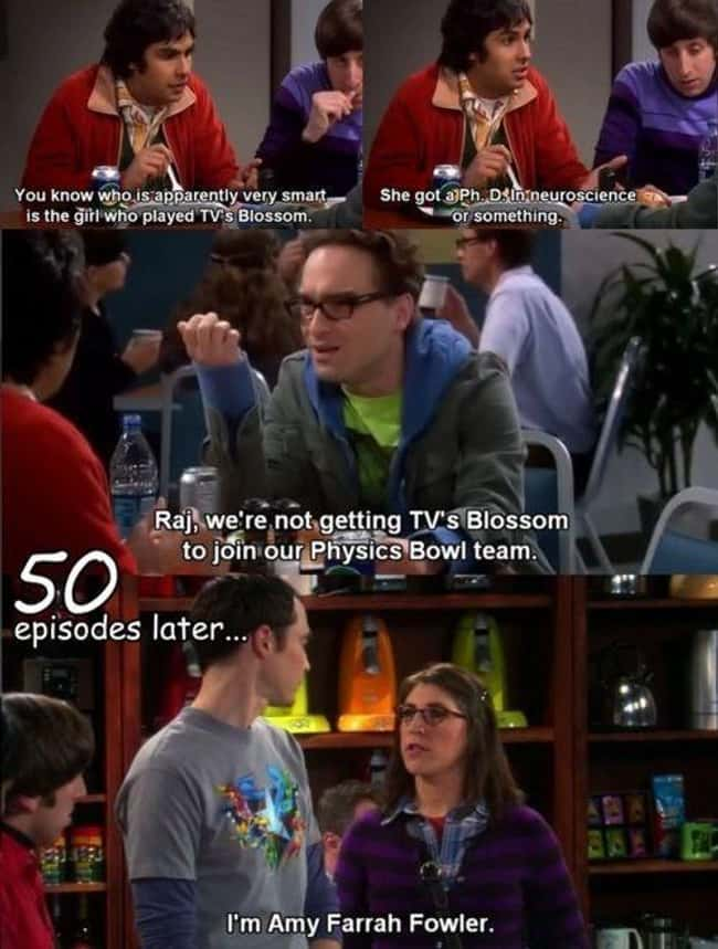Amy's entrance in TBBT