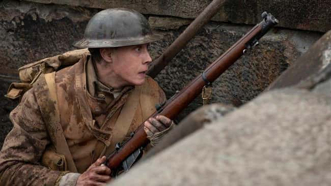 12. Lance Corporal Schofield fires only 10 shots throughout the entire film in 1917 (2019). The exact number of bullets that could be loaded into his Lee Enfield Rifle.