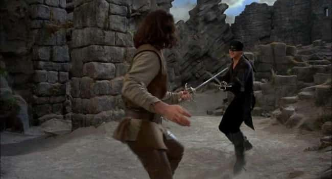 3. Inigo uses a right-handed sword scabbard in The Princess Bride and switches his sword to his left after drawing, whereas the Man in Black uses a variable back-mounted scabbard. So even before they start fighting, the Man in Black knows Inigo is fighting with his off-hand.