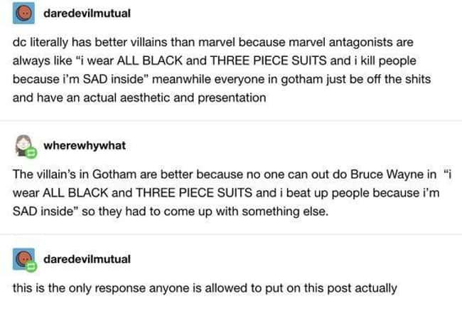 Marvel Villains v/s DC Villains