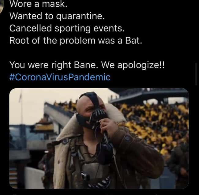 Bane: The actual Hero who followed Covid protocols