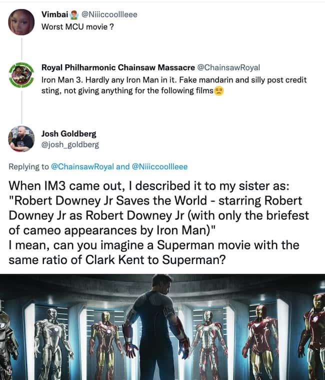Lack of Iron Man in IM3