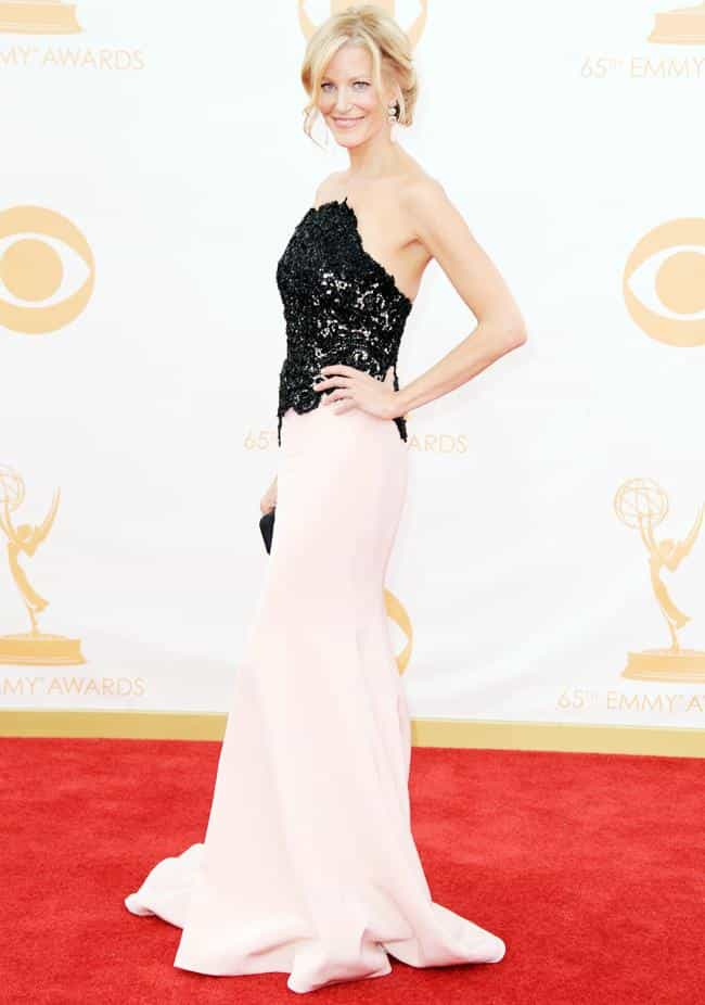 Anna Gunn is listed (or ranked) 2 on the list The Most Beautiful Celebrity in a Black & White Dress