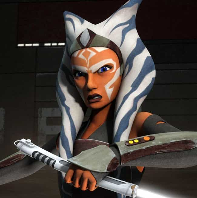 Ahsoka Tano is listed (or ranked) 4 on the list 20 Characters In The Star Wars EU Way Cooler Than Han Solo