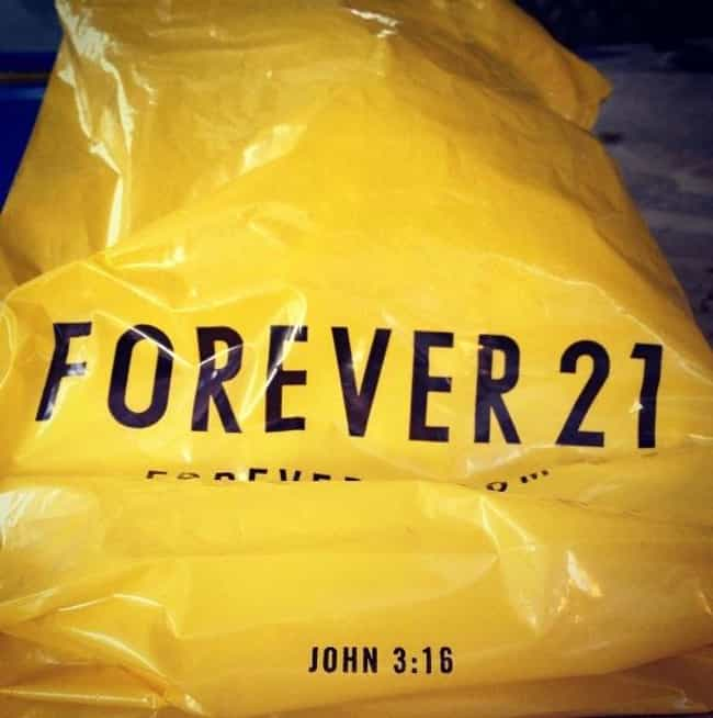 Forever 21 is listed (or ranked) 1 on the list 12 Companies You Didn't Know Were Christian