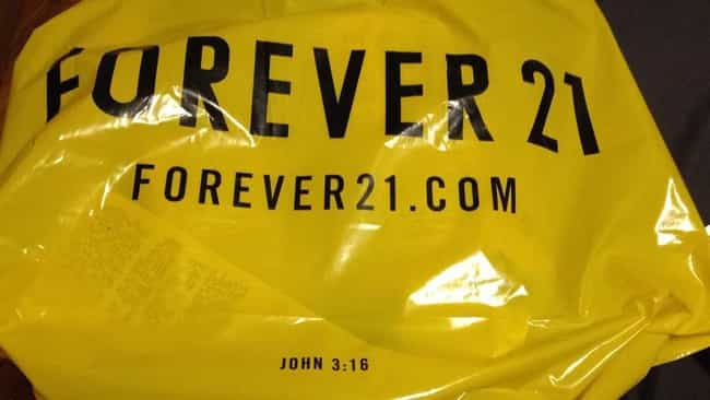 Forever 21 is listed (or ranked) 1 on the list 11 Companies You Didn't Know Were Christian