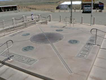 Four Corners Monument is listed (or ranked) 2 on the list Tourist Destinations People Say You Have To Go To That Are Actually Terrible