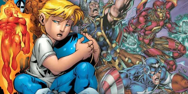 Franklin Richards is listed (or ranked) 1 on the list Small Comic Book Characters Who Are Actually Super Strong