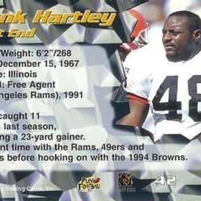 Frank Hartley is listed (or ranked) 21 on the list The Best Cleveland Browns Tight Ends Of All Time