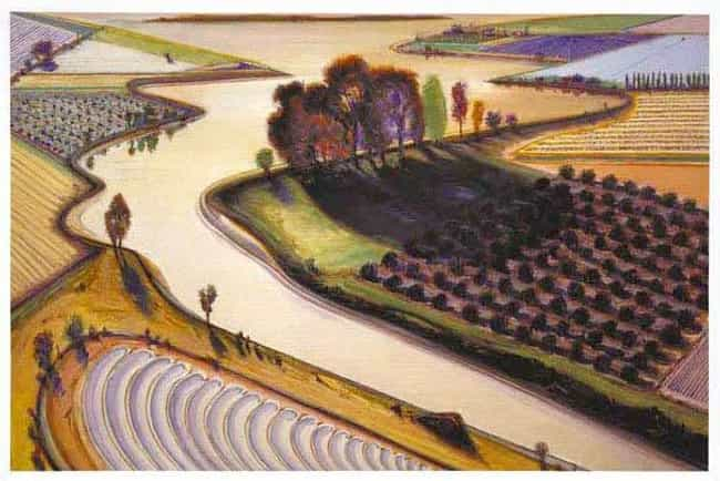 Flatland River is listed (or ranked) 3 on the list Famous Wayne Thiebaud Paintings