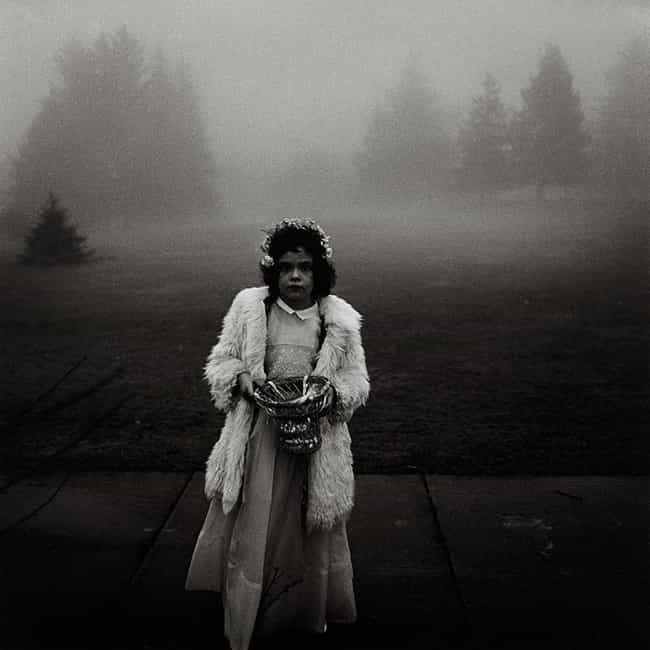 A flower girl at a wedding, Co... is listed (or ranked) 1 on the list Famous Diane Arbus Photography