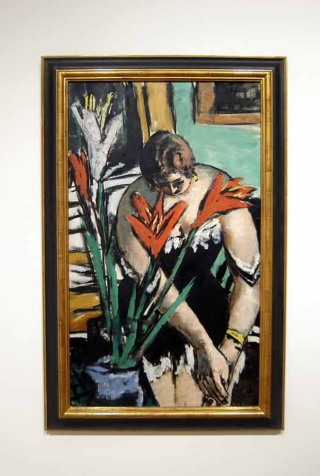 Frau bei der Toilette mi... is listed (or ranked) 3 on the list Famous Max Beckmann Paintings