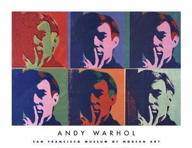 A Set of Six Self-Portra... is listed (or ranked) 1 on the list Famous Andy Warhol Paintings