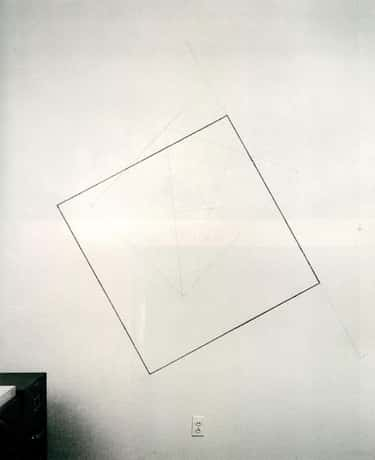 Wall Drawing #232: The location of a square.