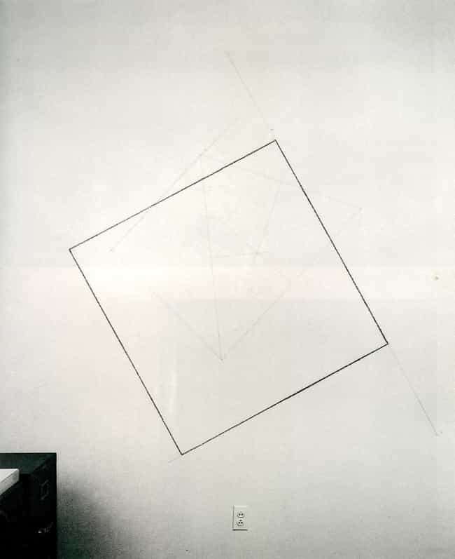 Wall Drawing #232: The locatio... is listed (or ranked) 1 on the list Famous Sol LeWitt Drawings