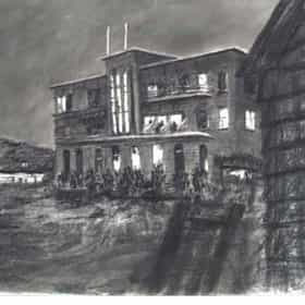Drawing from Tide Table: Beach Hotel at Night
