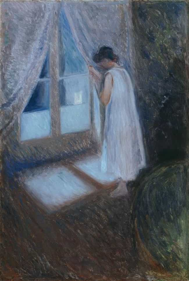 Girl Looking out the Window is listed (or ranked) 3 on the list Famous Edvard Munch Paintings