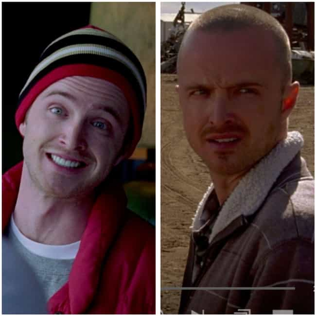 Aaron Paul is listed (or ranked) 2 on the list How the Cast of Breaking Bad Aged from the First to Last Season