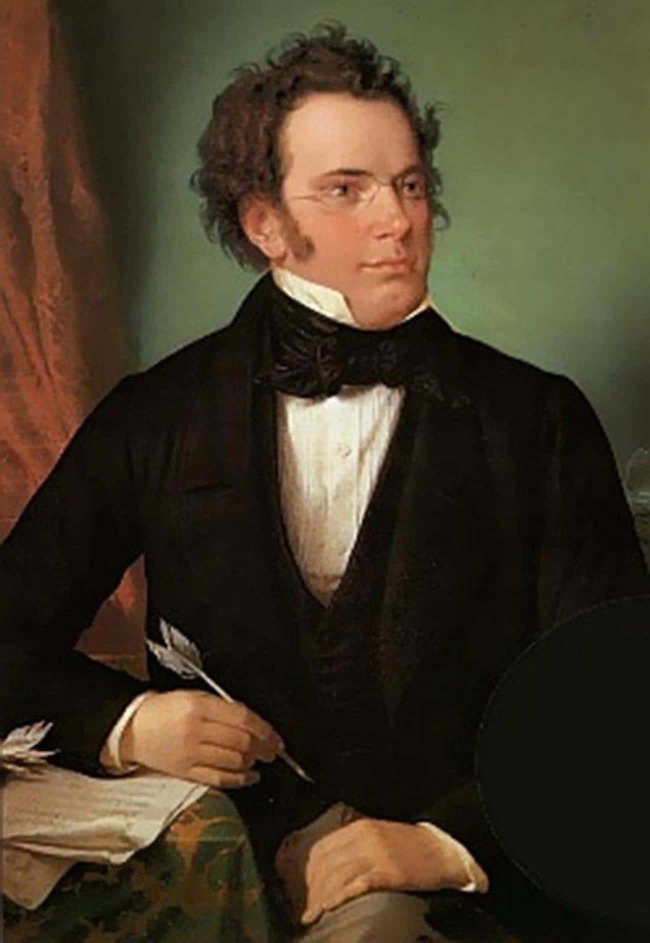 Franz Schubert Was Worth $12 W is listed (or ranked) 4 on the list 14 Actors, Authors, Athletes, And Artists (And One Scientist) Who Died Broke