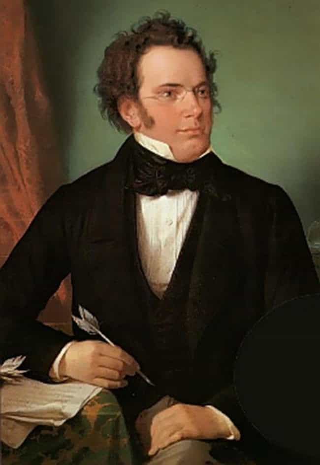 Franz Schubert is listed (or ranked) 4 on the list 14 Actors, Authors, Athletes, And Artists (And One Scientist) Who Died Broke