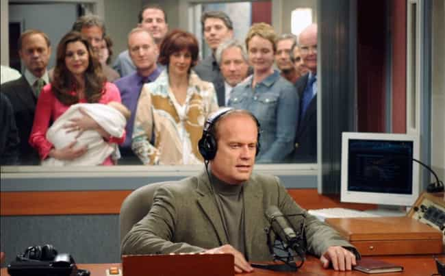 Frasier is listed (or ranked) 4 on the list TV Shows That Had Supposedly Happy Endings (But Were Actually Really Depressing)