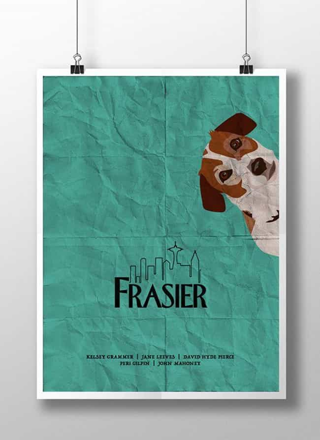 Frasier is listed (or ranked) 2 on the list Awesome Minimalist TV Posters That Reveal Less Is More